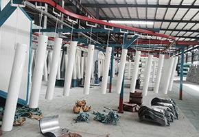 立柱喷塑生产车间